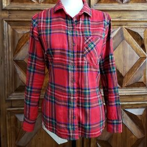 Old Navy Plaid Flannel shirt size M